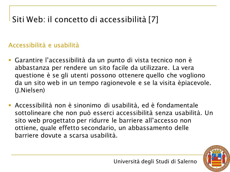 Siti Web: il concetto di accessibilità [7]